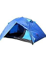 3-4 Personen Zelt Doppel Zwei Zimmer Camping Zelt 2000-3000 mmFeuchtigkeitsundurchlässig Wasserdicht Atmungsaktivität Regendicht
