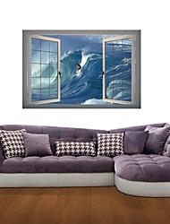 Adesivos de parede adesivos de parede 3d, surf de parede decoração adesivos de vinil