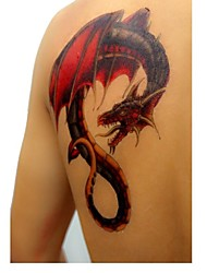 1Pc Waterproof Multicolored Large Fancy Dragon Pattern Tattoo Stickers