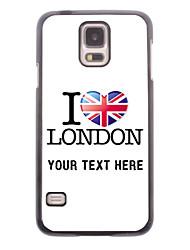 caja del teléfono personalizado - Amo el caso del diseño de londres metal para i9600 Samsung Galaxy S5