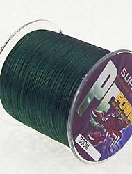 300M / 330 Yards Linha Traçada PE / Dyneema Linhas de Pesca Verde Escuro 60LB / 70LB / 80LB 0.37mm,0.40mm,0.45mm mm ParaPesca de Mar /