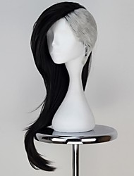 Cosplay Wigs Tokyo Ghoul Cosplay Black Medium Anime Cosplay Wigs 75 CM Heat Resistant Fiber Male