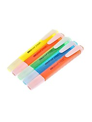 5 Pack Colorful Highlighter (Yellow,Orange,Green,Blue,Red)