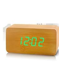 shibaojia ® reloj llevado reloj de madera de control de sonido diseño fasionable m9