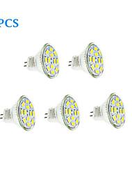 6W GU4(MR11) LED Filament Bulbs 12 SMD 5730 570 lm Warm White / Cool White DC 12 V 5 pcs