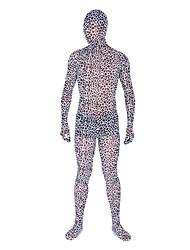 motif léopard tacheté sauvage Zentai unisexe de soie