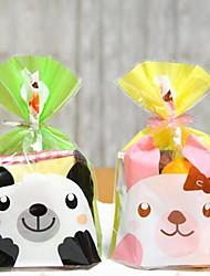 50pcs bonito do biscoito animais padaria doces biscuit jóias de presente de plástico decorações do aniversário festa de casamento do bebê saco de