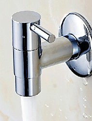 Thickened Fast Open Wall-Mounted Mop Pool Single Cold Faucet - Silver