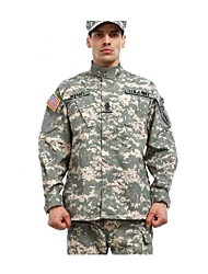 ESDY  Men's ACU Camouflage BDU Uniform Cotton Polyester War Game Paintball Jacket + Pants