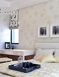 papier peint à fleurs dessins de fleurs blanches pour le mur de la chambre des filles domaines de l'art non-tissé mur de papier