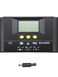 30a lcd controlador de carga solar regulador de carga de la batería solar30 y-solar