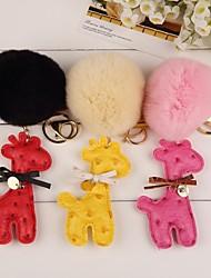 keychain bello giraffa con palla di pelo (più colore)