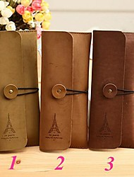 Eiffel Tower Leather Pen Pencil Case Cosmetic Make up Bag Wedding Baby Shower Birthday Return Gift