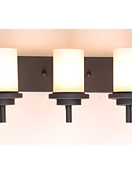 3*60W Retro Iron Classic Style Wall light in Painting Processing with Frosted glass