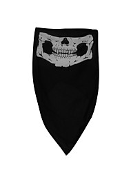 Qinglonglin Skull Cs Ghost Motorcycle Half Face Mask Dustproof