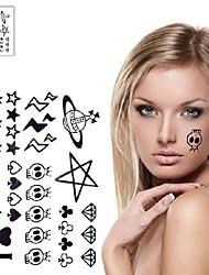 1 Pc Alien Cute Skull UFO Tattoo Stickers Temporary Tattoos