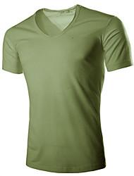 zehn Farben der Männer V-Ausschnitt Kurzhülse T-Shirt