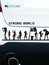 pegatinas de coches con el mundo fuerte