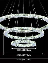 LED Crystal Chandeliers Lighting Lamp Transparent Crystal Round 3 Rings 30CM Plus 40CM Plus 50CM Light Fixtures