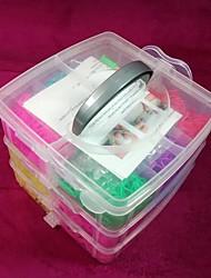 Doudouwo® DIY Twistz Bandz Rubber Bracelets Kits Rainbow Loom Style for Kids 3-layer Suit