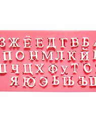 Русский алфавит помады формы торта формы шоколада для кухни выпечки в течение леденец