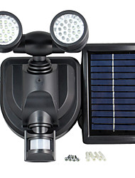solaire conduit capteur inondée feux de garage place de stationnement électrique rechargeable de sécurité y solaire 38 de mouvement de la lampe de