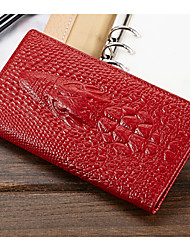 Women 's  Crocodile 3D Genuine Leather Coin Purse Wallets Day Clutch Purse Card Holders