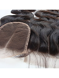 "4x4 Brazilian Virgin Hair Lace Top Hair Closure Body Wave 3 Part 12"" Natural Black 1Pc"