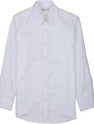 arruga blanco libre de satén camisas de vestir de los hombres