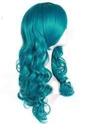 Fashion Girl Green Big Wave High Quality Synthetic Hair