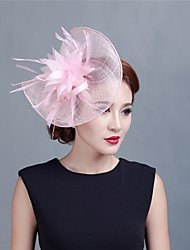 Women Wedding/Party Sinimay Fascinator with Feathers SFC12329