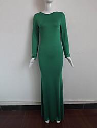 O  M  G  Women's Korean Fashion Sexy Nightclub solid color dress