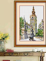 бриллиантового креста стежок рукоделие стены домашнего декора замка потенциала 3D-картина стразами шаблон гостиная 36см * 46см