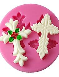 Vier c Silikonform Dekor 3D Kuchenform Fondant-Tools Farbe Rosa