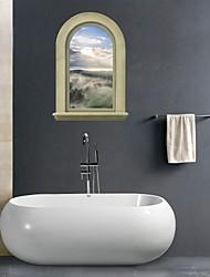 Adesivos de parede adesivos de parede 3D, pintura de parede do banheiro decoração mural pvc adesivos