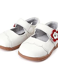 Girls' Shoes Casual Comfort Leather Flats Black/Pink/Red/White