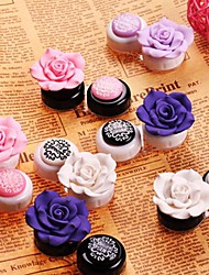 Korean Lovely and Beautiful Plastic Contact Lenses Case (Random Color)