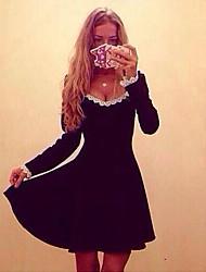 VONIWomen's Casual Long Sleeve Dresses (Cotton)