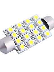 gc® 42mm 4w 200lm 6000k 16x3528 blanc SMD LED pour la lampe voiture lecture / plaque d'immatriculation / porte (DC12V)