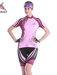 MYSENLAN Women's Polyester Summer +Purple+ Short Sleeve Cycling Suit