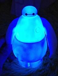 gran héroe 6 proyección Baymax noche colorido brillante muñeco articulado de vinilo