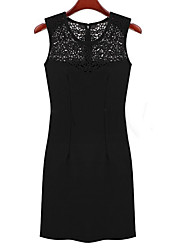 fino vestido de renda sleevless de Nika mulheres