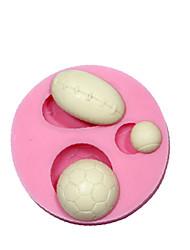 ballons de sport fondant silicone décoration moules moules de chocolat gâteau de silicone outils de gâteau de conception 3D