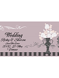 Personalized Wedding Invitations Flower Lilac Pattern Save The Date Paper Card 19cm x 10cm 50pcs/Set
