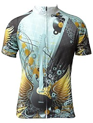 Jesocycling® Men's New Design Spring And Autumn Polyester Short Sleeve Cycling Jersey