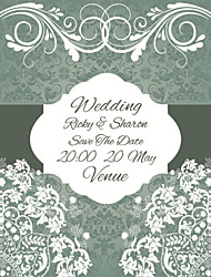 Personalized Wedding Invitations Formal Pattern Save The Date Paper Card 15cm x 12.5cm 50pcs/Set