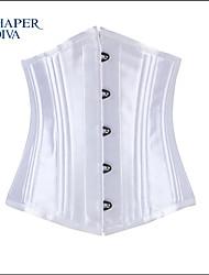 sexy underbust satin 22 acier désossées corsets shaperdiva formation pour les femmes de taille