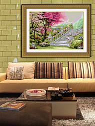pueblo kits de bordado a mano pintura del paisaje viviente diamante sala de punto de cruz decoración del hogar de la pared de la costura