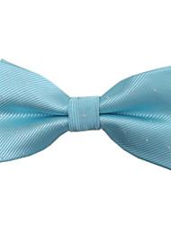 Men's Classic Laker Blue Silver Dots Microfibre Bowtie