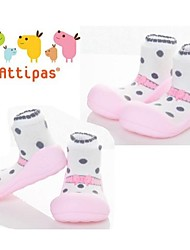 Attipas Super Lightweight Baby Girls Infant Shoes Anti-slide First Walker Ballet Pink Polka Dot Toddler Shoes
